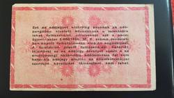 1946-os 1 Millió Adópengő FORDÍTOTT CÍMERES ÉS HAT JEGYŰ FOLYÓSZÁM RR!