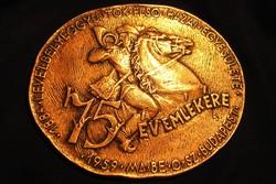 Ritka bronz plakett érem - Légrády Sándor - Levélbélyeggyűjtők ... 75 év emlékére, 1884-1959