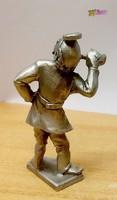 Fül-orr-gége szakorvos a XIX. század eszközeivel, Ón miniatúra, kisplasztika.