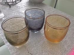 """KIÁRUSÍTÁS !!!  50-es évekből 3 db üveg """"vitrines pohár"""""""