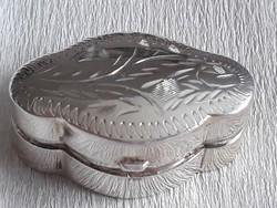 Pirula tartó ezüst tégely