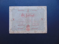 5 forint 1848 Kossuth bankó 02