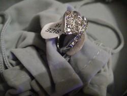 Szépséges levelet formázó swarovski gyűrű