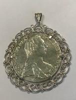 Mária Terézia ezüst tallér medál