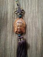 Buddha, Lotus virág faragott fa spirituális buddhista amulett