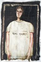 Győrfi András - Hala Madrid 40 x 30 cm olaj, karton