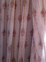 Retro nylon rózsás függöny anyag 150 x 240 cm