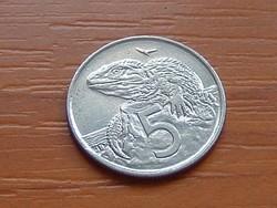 ÚJ-ZÉLAND NEW ZEALAND 5 CENT 1997 TUATARA (HIDASGYÍK) #