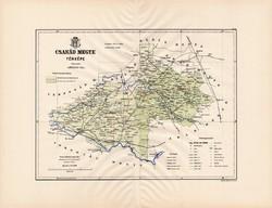 Csanád megye térkép 1889 (3), Magyarország, vármegye, régi, atlasz, eredeti, Kogutowicz Manó, Gönczy