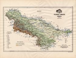 Verőce megye térkép 1890 (3), vármegye, régi, atlasz, eredeti, Kogutowicz Manó, Gönczy Pál, 43 x 57
