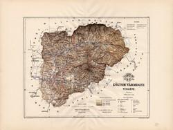 Zólyom vármegye térkép 1889 (3), megye, atlasz, Kogutowicz Manó, 43 x 57 cm, Gönczy Pál, nagy méret