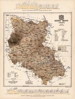 Szepes megye térkép 1887 (3), vármegye, atlasz, Kogutowicz Manó, 43 x 57 cm, Gönczy Pál, eredeti
