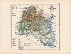 Baranya megye térkép 1888 (3), Magyarország, vármegye, atlasz, eredeti, Kogutowicz Manó, 43 x 57 cm