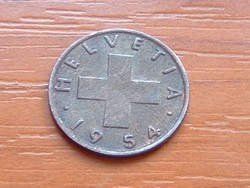 SVÁJC 1 RAPPEN 1954 B