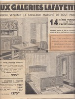 Képes, francia BÚTOR és Gramofon/Zenegép ÁRJEGYZÉK 1930 körül