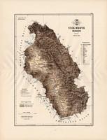 Csík megye térkép 1889 (3), vármegye, atlasz, Kogutowicz Manó, 43 x 57 cm, Gönczy Pál, eredeti, nagy