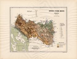 Modrus - Fiume megye térkép 1890 (3), vármegye, régi, atlasz, eredeti, Kogutowicz Manó, Gönczy Pál