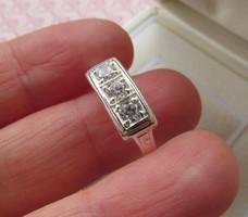 3 köves ezüst gyűrű - új ékszer