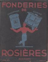 Francia, art deco KÁLYHA, TŰZHELY és más VASÁRÚ képes ÁRJEGYZÉK 1934