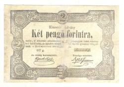 2 Két pengő forintra 1849 Kossuth bankó 2.