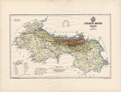 Szerém megye térkép 1890 (3), vármegye, régi, atlasz, eredeti, Kogutowicz Manó, Gönczy Pál, 43x57 cm