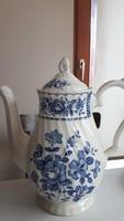 Angol kék virágos teás kanna fedővel