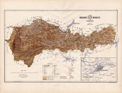 Kolozs megye térkép 1886 (3), Magyarország, vármegye, régi, atlasz, eredeti, Kogutowicz, Kolozsvár