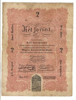 2 Két forint 1848 Kossuth bankó 2 eredeti állapot.