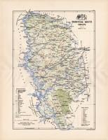 Torontál megye térkép 1887 (3), Magyarország, vármegye, atlasz, Kogutowicz Manó, 43 x 57 cm, eredeti