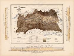Liptó megye térkép 1887 (3), vármegye, atlasz, Kogutowicz Manó, 43 x 57 cm, Gönczy Pál, nagy méret
