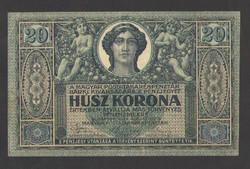 20 korona 1919. augusztus 09.,.  EF!!  GYÖNYÖRŰ!!