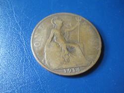 Egy   penny  V. György  1914    30 mm