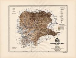 Beszterce - Naszód megye térkép 1888 (3), Magyarország, vármegye, régi, atlasz, eredeti, Kogutowicz