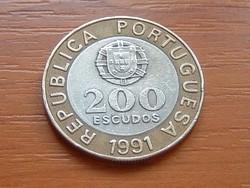 PORTUGÁLIA 200 ESCUDOS 1991 #
