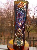 Antik Fenton Carnivali lüszteres üveg váza 18,5  cm