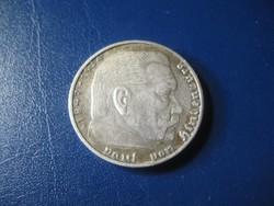 Hindenburg   , ezüst  birodalmi 2 márkás  1834 1934