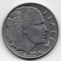 Olaszország Itália 20 olasz centesimi, 1942