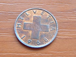 SVÁJC 1 RAPPEN 1968 B