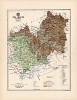 Ung megye térkép 1888 (3), vármegye, atlasz, Kogutowicz Manó, 43 x 57 cm, Gönczy Pál, eredeti