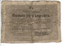 30 Harmincz pengő krajczárra Kossuth bankó 1848 1.