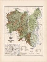 Tolna megye térkép 1886 (3), vármegye, atlasz, Kogutowicz Manó, 43 x 57 cm, Gönczy Pál, Szekszárd