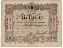 10 Tíz forint 1848 Kossuth bankó 3.