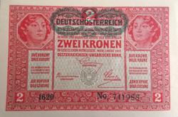 2 Korona Ausztria 1919 UNC