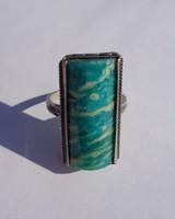 Zöld köves ezüst gyűrű