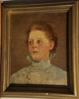 Kunffy Lajos (1869 – 1962) - Lány portré