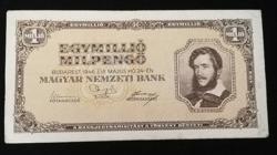 1946  EGYMILLIÓ MILPENGŐ SZÉP ÁLLAPOTÚ RITKA