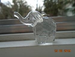 Csiszolt,fazettált elefánt medál vagy kulcstartó