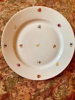 Zsolnay antik szórt virágos kerek kínáló tál tányér az 1930 -as évekből 28 cm