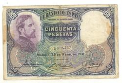 50 peseta 1931 Spanyolország
