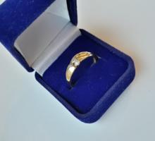 Briliáns köves arany gyűrű (jelölve)